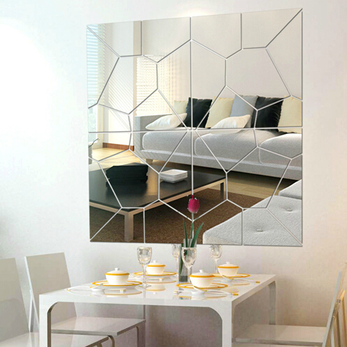 2016 3d acrylic mirror wall sticker home decorative for Home decor 90 off