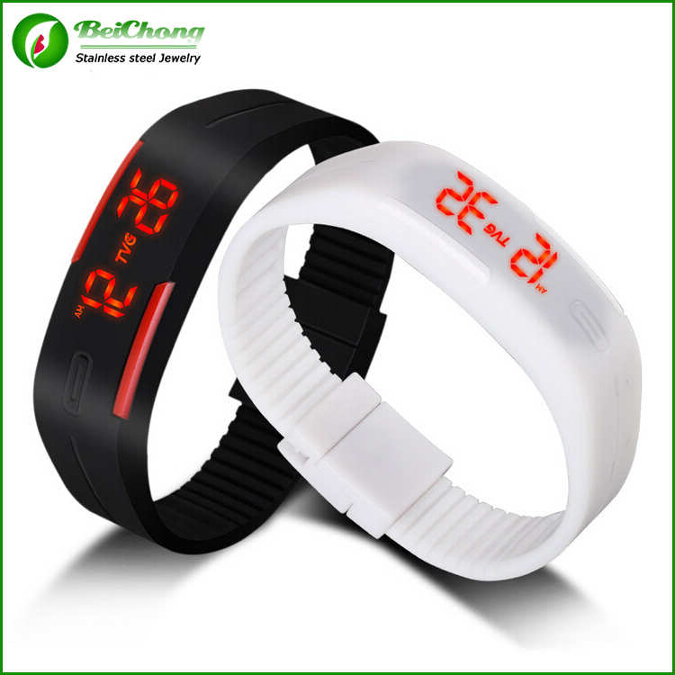 Lowest price smart bracelet watch Electronic Led Digital Jelly Sport Watch For Men Women wristwatch Free shipping QD0101(China (Mainland))