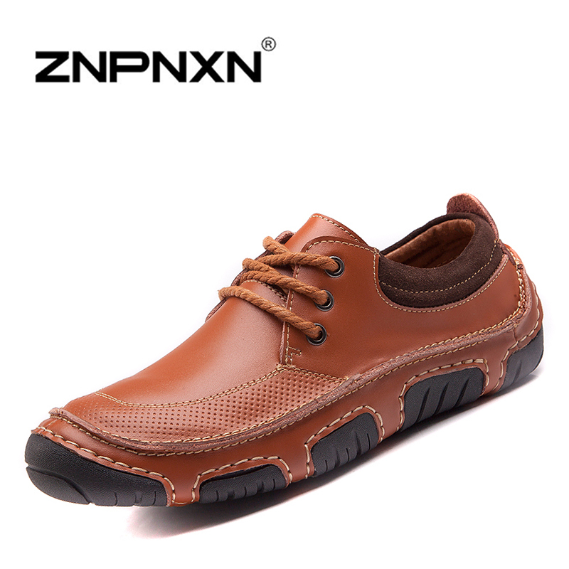 2014 Hot Sale Men Winter Sneakers Genuine Leather Shoes Top Quality Oxford Shoes For Men Casual Lace-Up Men Sneakers Shoes<br><br>Aliexpress