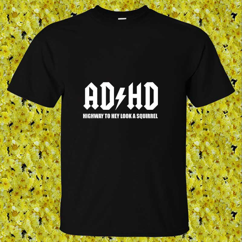 AD HD ADHD Highway To Hey A Squirrel Man T-Shirt Cotton O Neck Mens Short Sleeve Mens tshirt Male Tops Tees Wholesale(China (Mainland))