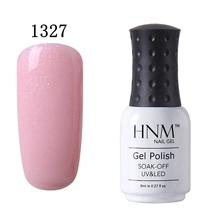 HNM 8 мл чистый 28 Цвета УФ гель лак для ногтей Soak Off Lucky лак грунт тиснения Hybrid Лаки ногтей гель эмаль живопись Gellak(China)