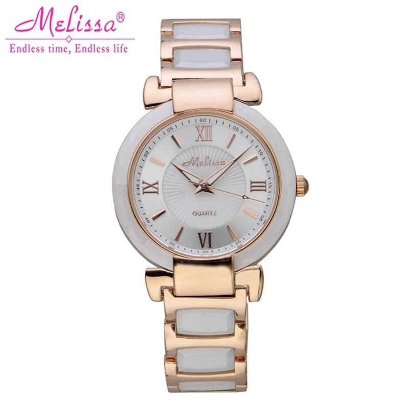 2014 New women dress rhinestone watches fashion casual quartz watch steel band Hot sale Luxury brand Melissa 6606 relogio gift<br><br>Aliexpress
