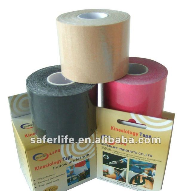 "10% Off discount 20pcs a lot Elastic cotton Sports Kinesiology Tape 2"" W x 16.4' L w individual box muscle therapy"