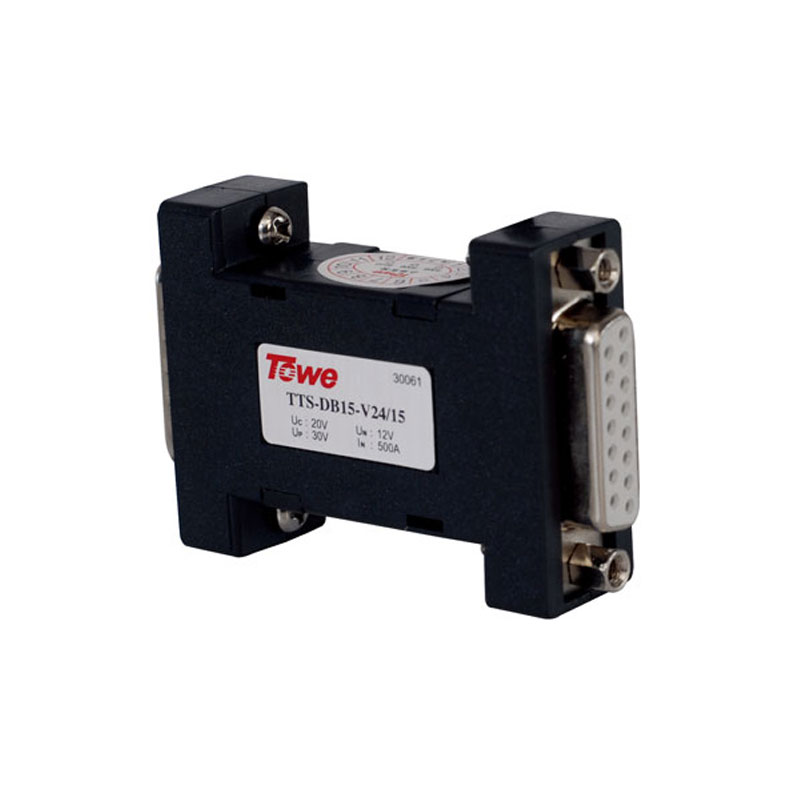 TOWE AP-DB15-V24/15 15-pin D-type connector, 12V Data Line Protection RS232 RS422 RS485 connector SPD R surge protector