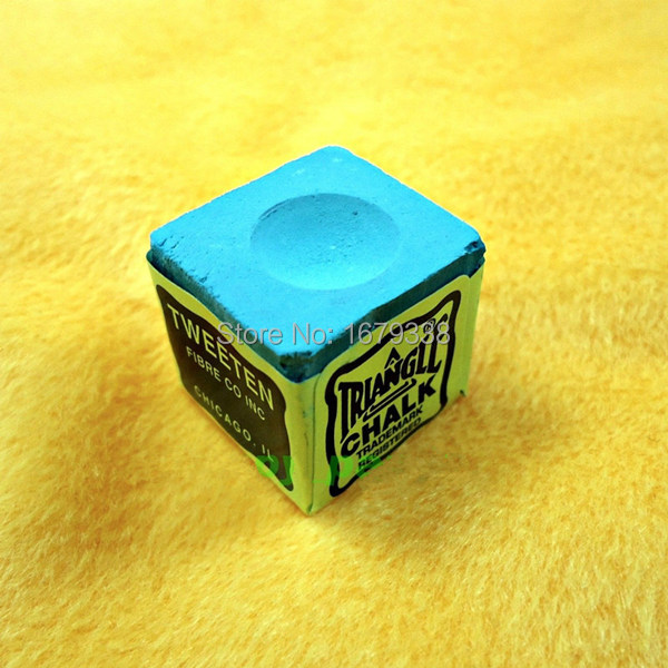 NEW 24pcs Indoor Sports Billiards Cue Blue Table Tennis Snooker Pool Triangle Oily Dry Chalk Shaft Tip(China (Mainland))
