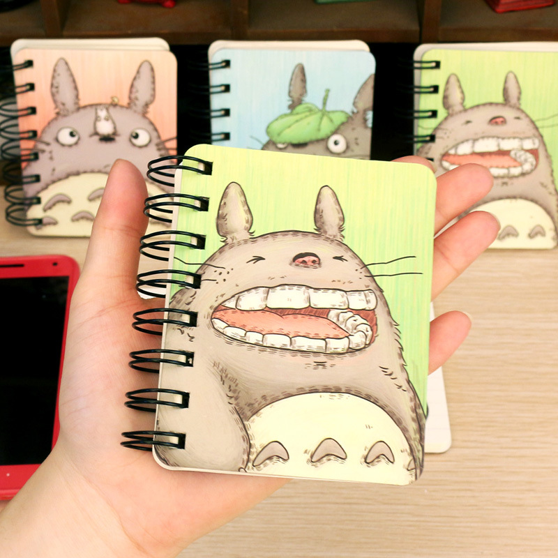 Cute My Neighbor Totoro Hard Cover Coil Book Portable Pocket Notebook Diary Notepad Girl stationery(China (Mainland))