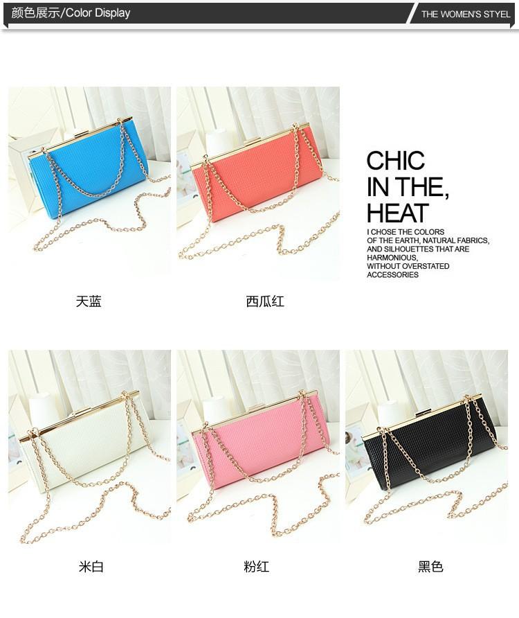 2015  New Arrival Korea Style Women Handbag Bags Women Chain Shoulder