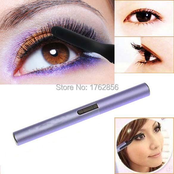 Small Design Heated Eyelash Curler Eye Clip Brush Makeup Tool Portable A2(China (Mainland))