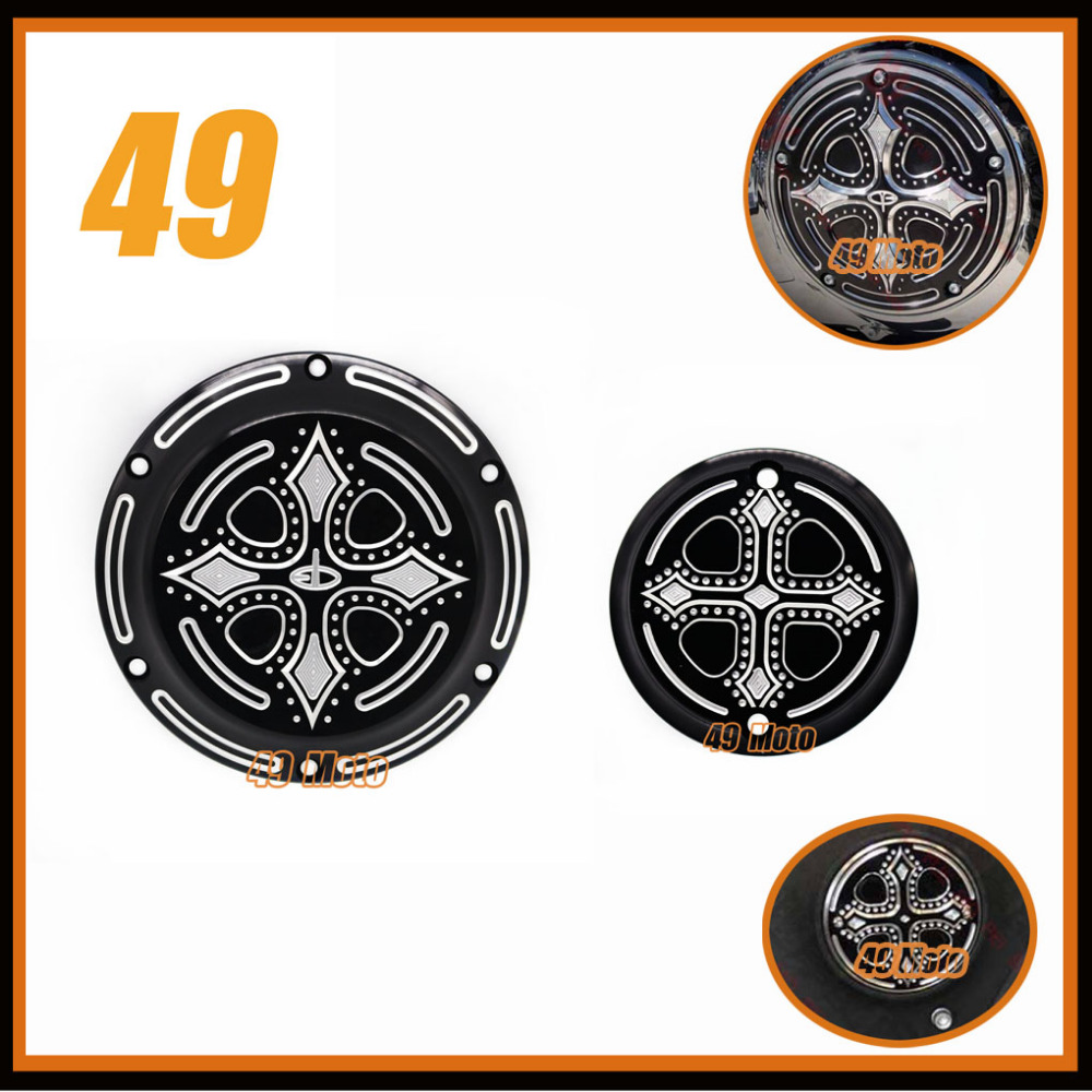 Фотография For Harley XL XR Sportster Iron 883 1200 XLH883 XL883N XL1200V XL1200X XL1200R Chrome Hearts BLACK Engine Cover