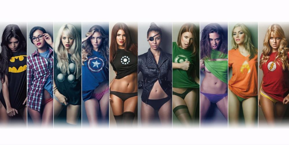 Avengers Tremendous Heroes Justice League,girls T-shirt 24x48-2