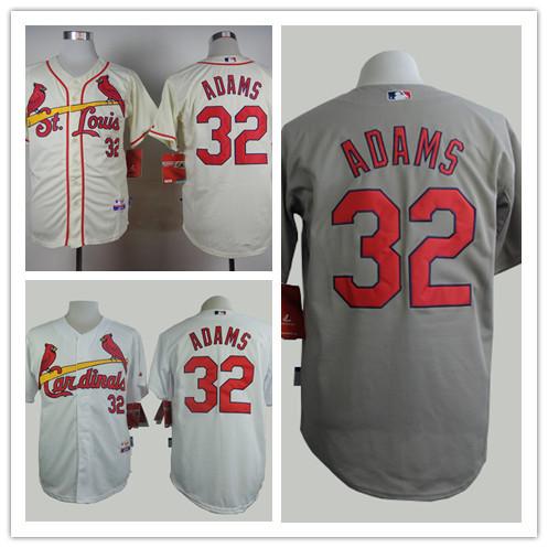 Wholesale Deal Men's St. Louis Cardinals Jerseys #32 Matt Adam Baseball Jersey Embroidery and Sewing logos,100% Stitched