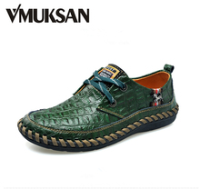 Mens Alligator Leather Printed Ballet Flats 2016 Man Tenis LUXURY Moccasin Shoes For Men Fashion Party Casual Men Leather Shoes(China (Mainland))