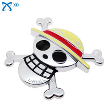 Buy Metal Car Styling Sticker One Piece Pirate Skull Logo Badge Emblem Decal Decoration BMW Nissan Toyota Honda Audi Jaguar for $4.76 in AliExpress store