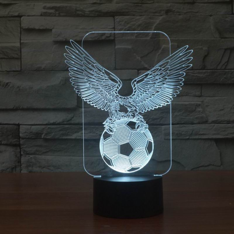 Innovative Cool Eagle Football 3D LED Night Light Lamp for Decoration Room FS-2980(China (Mainland))