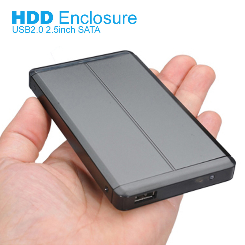 2.5 inch SATA External HDD Enclosure USB2.0 hdd Caddy HD Externo Case External Hard Drive Caddy Hard Disk Box no Hard Disk(China (Mainland))