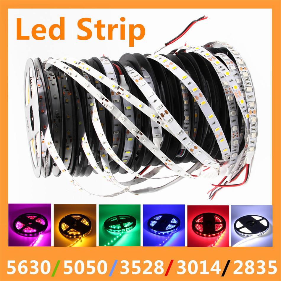 Lampadas LED Strip 5050 Neon 5630 Power Supply 3528 New Year 3014 DC 12V Luz LED Light Tiras RGB LED Tape Christmas Decoration(China (Mainland))
