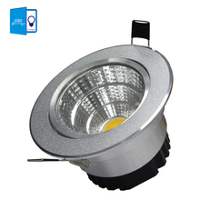 [DBF] Silver Ultra gorgeous Dimmable LED COB Downlight AC110V 220V 6W/9W/12W/15W Recessed LED Spot Light Decoration Ceiling Lamp(China (Mainland))