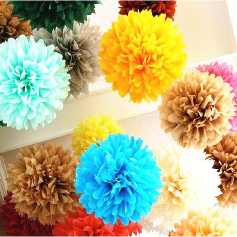 10inch (25cm) Tiffany Blue Tissue Paper Flowers Pom Poms Flower Kissing Balls Home Decoration Festive & Party Supplies Wedding F(China (Mainland))