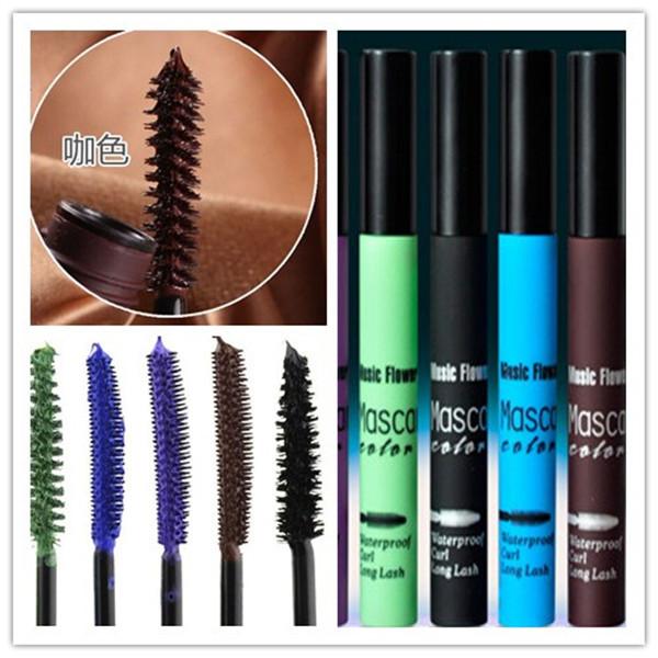 Fashion new Professional Black 5 color Mascara eyelashes Thick Lengthening Makeup Eyelashes Mascara Brand Waterproof(China (Mainland))
