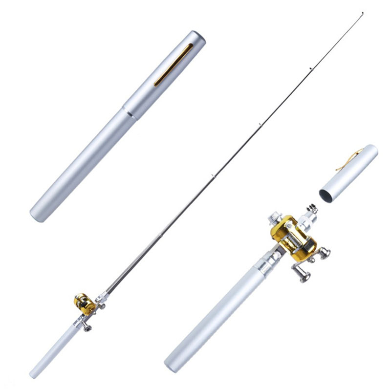 POINT BREAK High-quality 1 Meter Stainless Pen Type Fishing Rod Mini Portable Rock Fishing Rods Combo Fast Transport(China (Mainland))