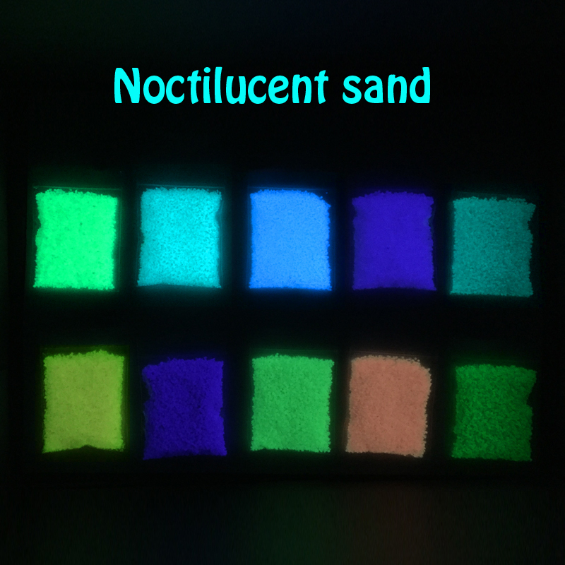 luminous glow sand super bright Noctilucent powder sand clock 10 colors glow in dark for wishing bottle glow in dark(China (Mainland))
