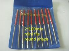 Wholesale 2 100 Mini round diamond file 10pcs 1lot knife Guitar repair Jewelry appliance Wholesale whole