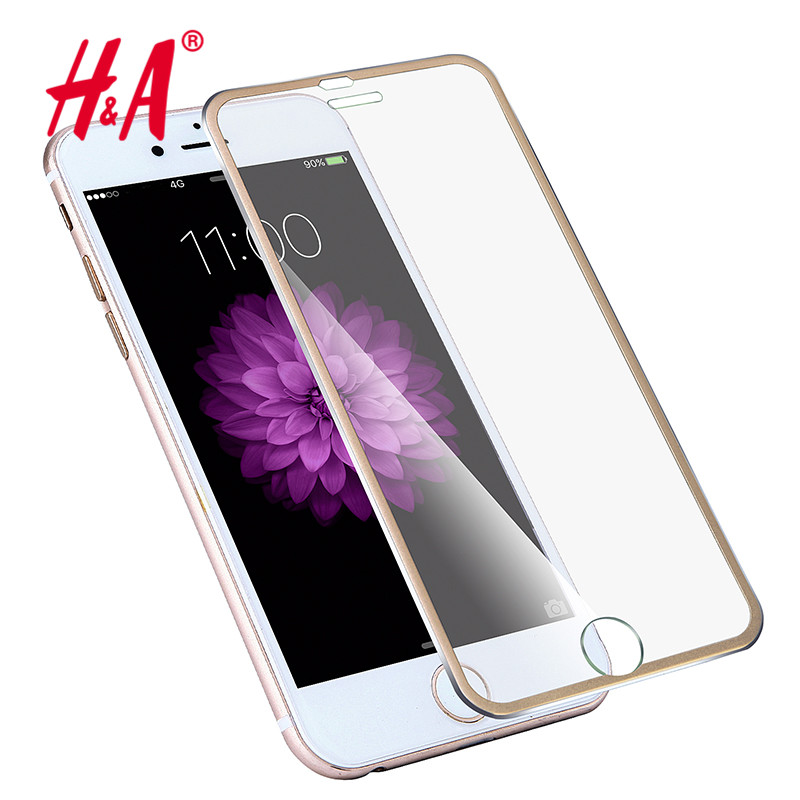 Front Screen Protector for iPhone 6 6s Tempered Glass Full Cover 3D Curved Edge Titanium Film Full Coverage(China (Mainland))