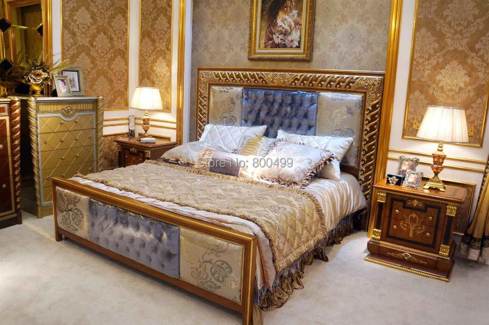 2014 antique wooden new arrival real muebles para el hogar bedrooms bisini luxury solid wood Best price on bedroom dressers