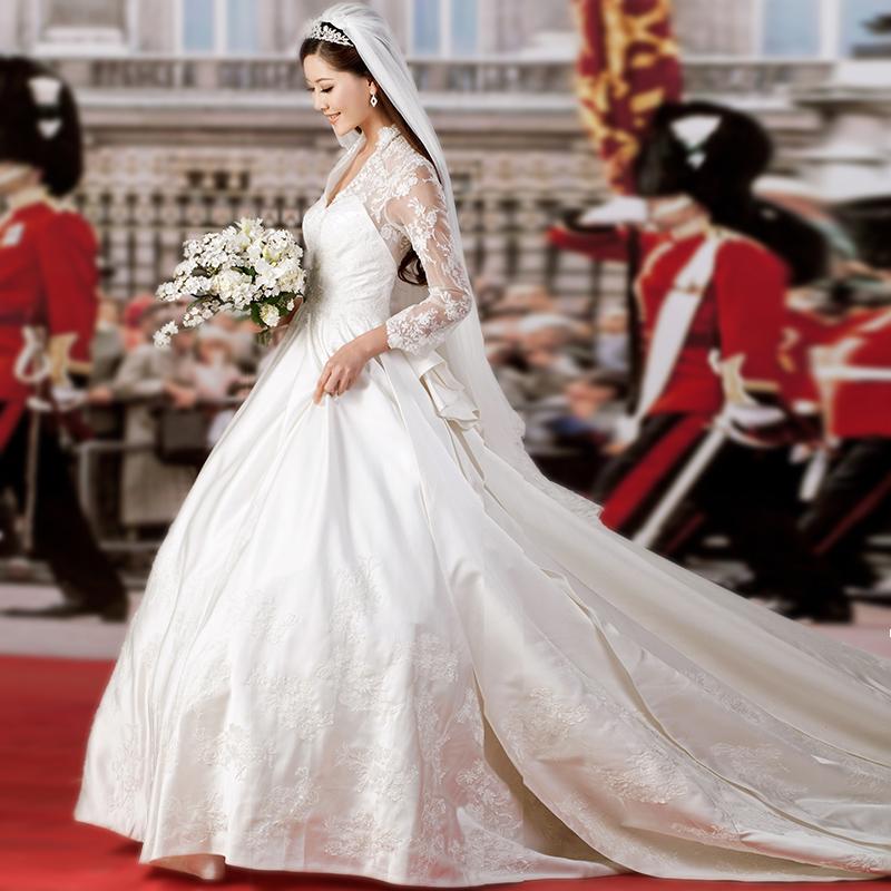 Versandkostenfrei! Der Royal kate hochzeitskleid braut abendkleid V ...