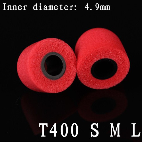 2pcs 4.9 mm Caliber Earphone accessories Comply T400 T500 tips Headset Memory Foam Sponge ear pads for headphones(China (Mainland))