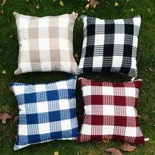 Korean style Square Cushion Plaid/gingham//chequer cushion 45*45cm
