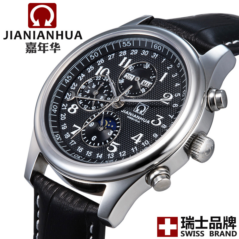 Carnival watch mens watch genuine leather mechanical watch male watch elegant commercial watch