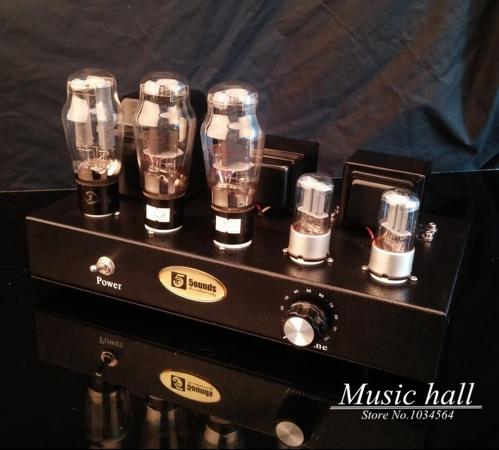 Music Hall 2A3 Vacuum Tube Amplifier Stereo Hi-Fi Class A Power Valve Amp_Black Finished Product 110~240V(China (Mainland))