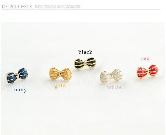 wholesale earrings 160pcs(80pairs)top quality Exaggerated gold plated bowknot  earrings alloy women fashion 5colors<br><br>Aliexpress