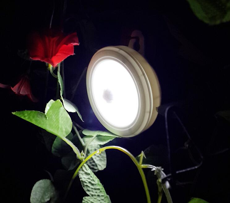 PIR Detector Motion Sensor LED Night Light Battery Powered LED Bulb Light for Cabinets Kitchen Bedroom Lighting(China (Mainland))