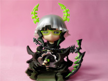 Black Rock Shooter Cute Girl TV Animation Ver.10CM PVC Action Figure Model Collection Toy Birthday Christmas Gift Free Shipping
