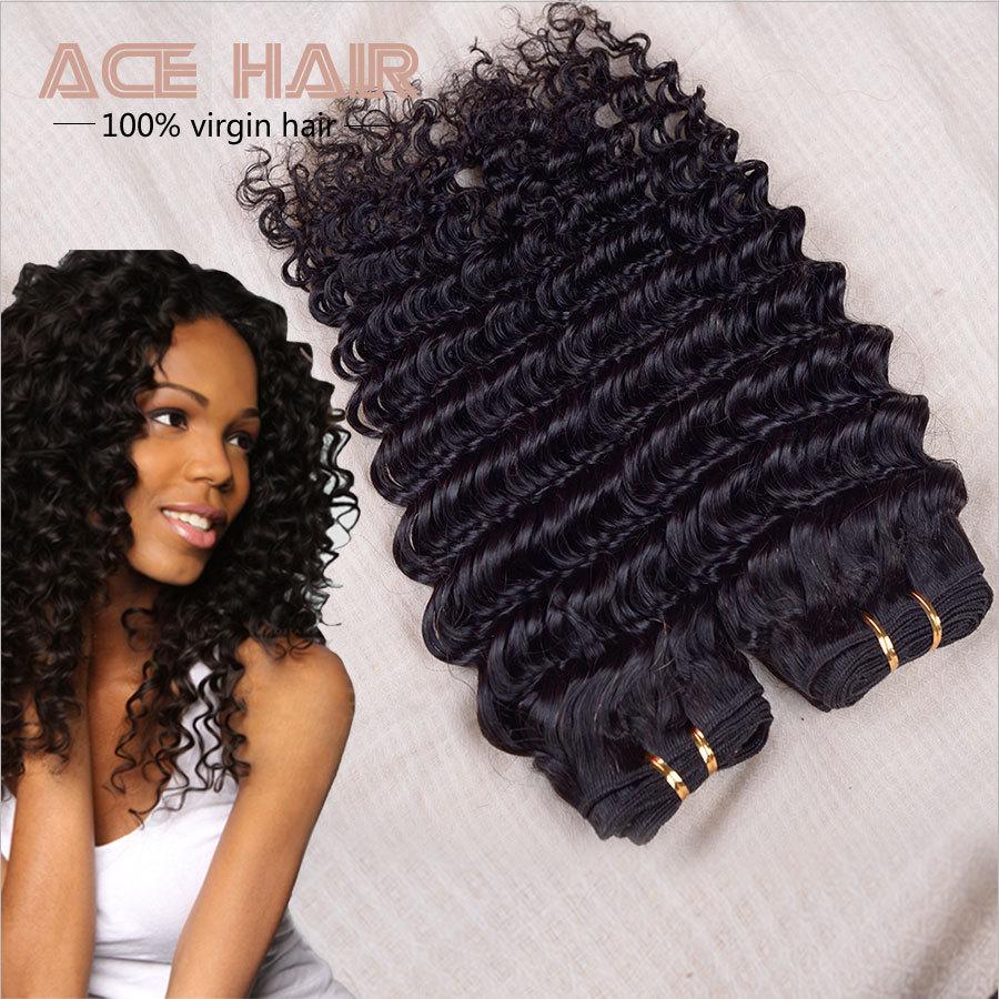 Malaysian Deep Wave Malaysian Curly Hair Queen Hair Products 3pcs,Malaysian Virgin Hair 8-30inch Remy Human Hair  Weave Bundles(China (Mainland))