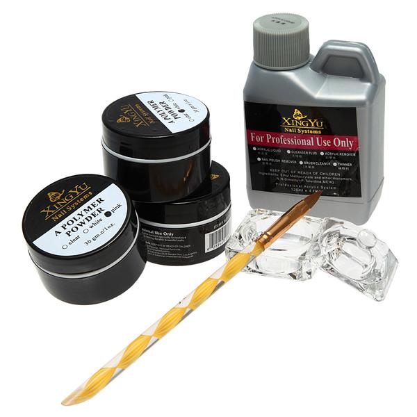 1 Set 120ml Nail Acrylic Powder Liquid Pen Dish Sets Art Nails Tips DIY Design Kit Beauty Tools(China (Mainland))