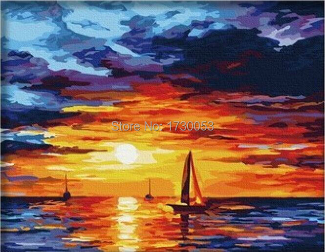 Sailing Boat Sunset Drawing Sailing Sunset Drawing on Sea