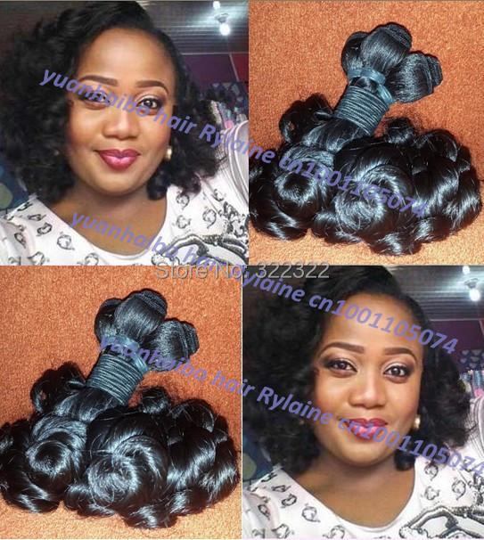 Top 6a grade 1b# 3pcs/lot 100% virgin peruvian bouncy curls funmi hair Nigerian/Uk popular style free shipping<br><br>Aliexpress
