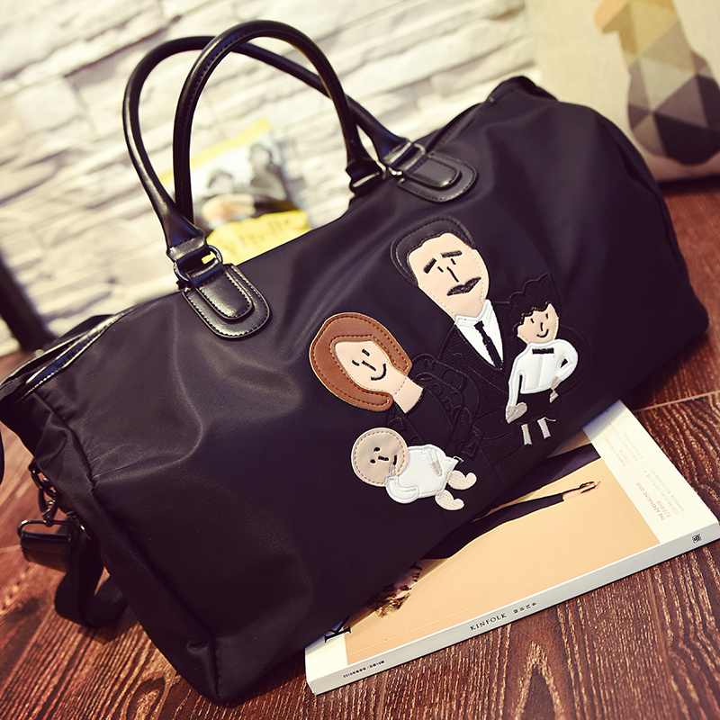 2017 Limited New Arrival Silt Pocket Single Zipper Totes Unisex Overnighter: Male Mr.l Spoof Bag Canvas Gym With Large Capacity