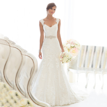 Buy Vestido De Novia Vnaix W1299 Lace Mermaid Wedding Dresses Chapel Train Customized Cheap Brides Dress Long Lace Bridal Gown for $108.80 in AliExpress store