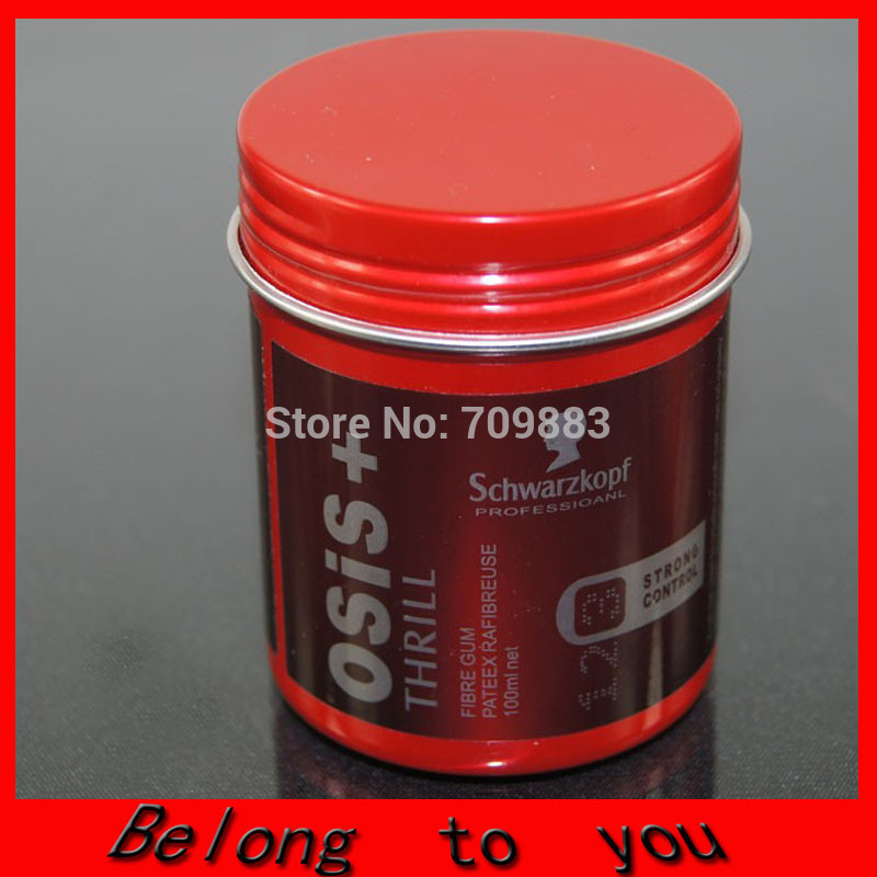 2pcs/lot Free Shipping Osis Thrill Pomade Men's Clay Wax Hair Gel Hair Salon 100ml(China (Mainland))