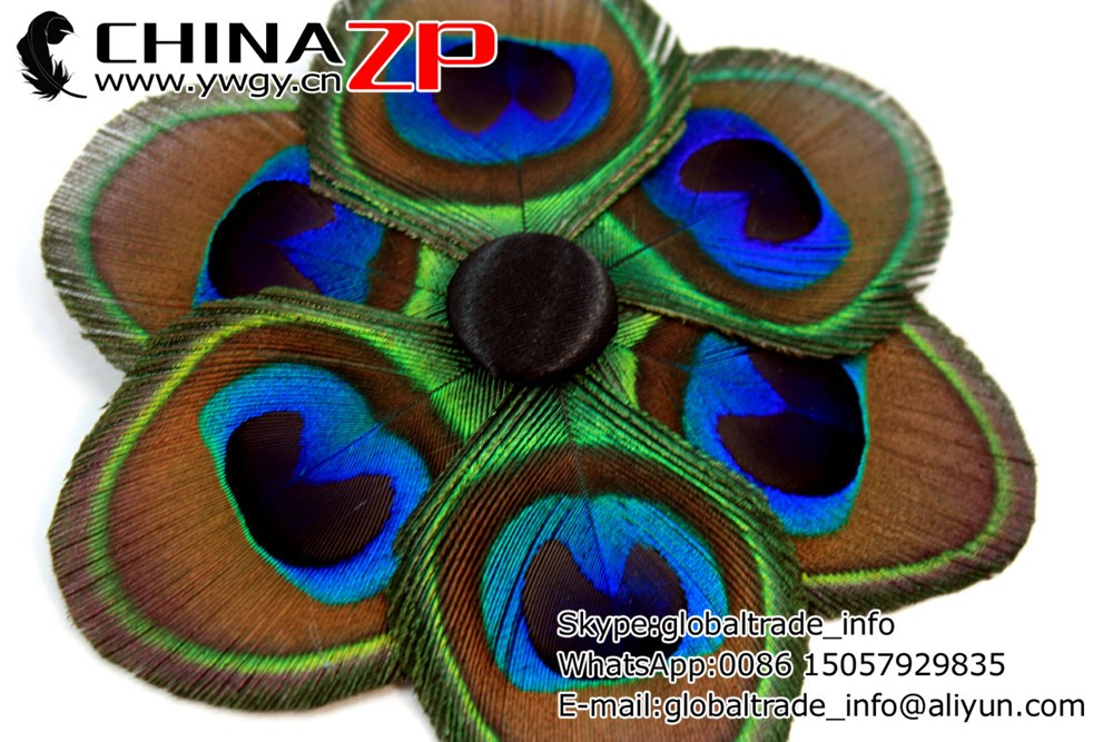 Dreamy - Peacock feather flower   Peacock hair clip Feather fascinator