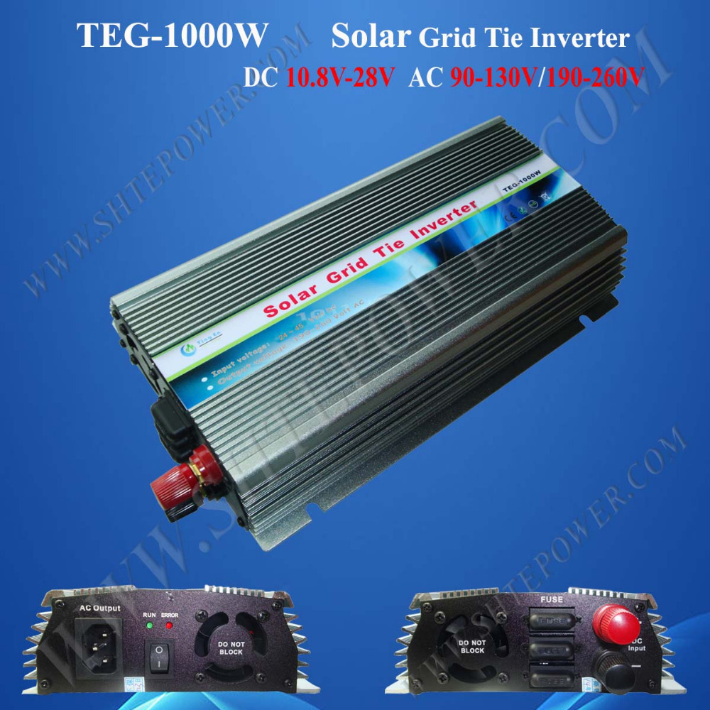 Inverter 12V 110V 1000W, grid tie solar power inverter 1000W, 12v dc 110v ac 50Hz converter(China (Mainland))