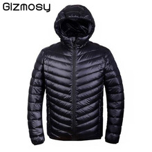 Gizmosy! 2016 Winter Jacket men 90% Duck Down Jacket Ultralight Jacket With a Hood Outdoors Winter Parka With Carry Bag BN104BN(China (Mainland))