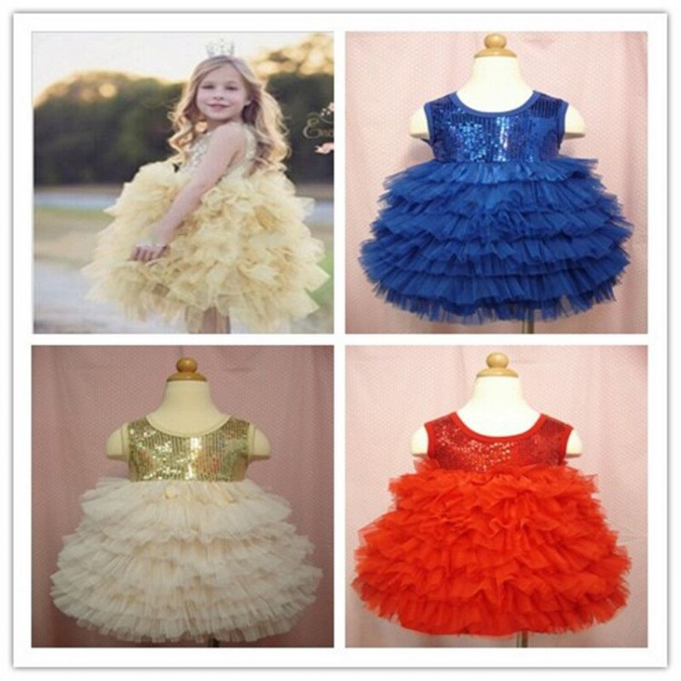 EMS DHL Free Shipping Girls BABY TUTU PETTI children Christmas DRESS sequin pom dancing dress Tiers Cake Princess Holiday Wear(China (Mainland))