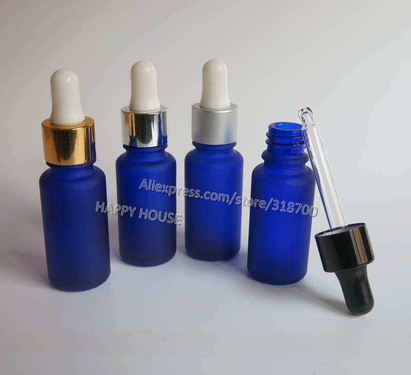 Free shipping -  500  x 15ml Frost Blue Boston Round Glass Bottles with Dropper, Cobalt Blue Glass Essential Oil Dropper Bottle<br><br>Aliexpress