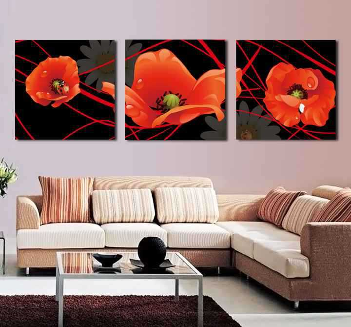 3 piece wall art set home decor modern picture abstract oil painting wall decor canvas pictures - Promo code for home decorators set ...
