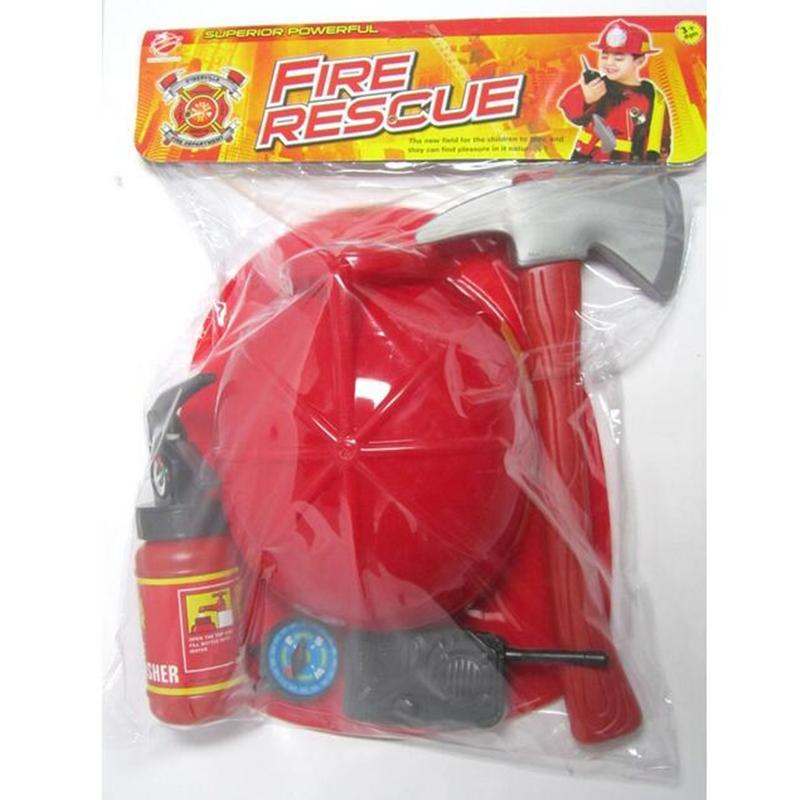 tofoco set kids play firefighter toy fireman helmet fire rescue